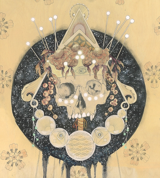 """Everything is Poison, Nothing is Poison"" oil and graphite on wood Panel 20 x 16"" 2013"