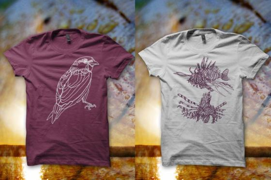 Eco friendly t-shirts from Forest and Fin at Recreate