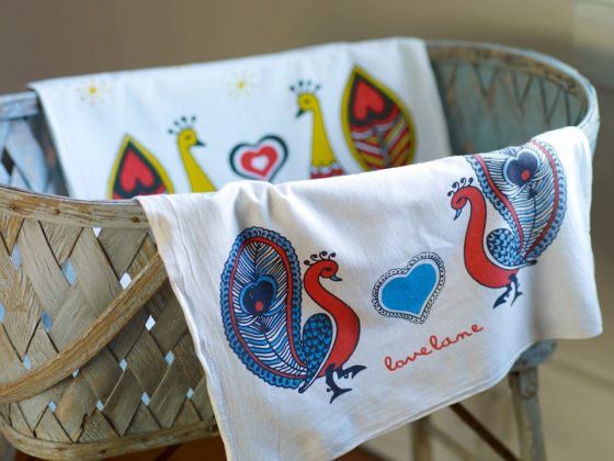 Lovelane Designs tea towels also at Fabrika