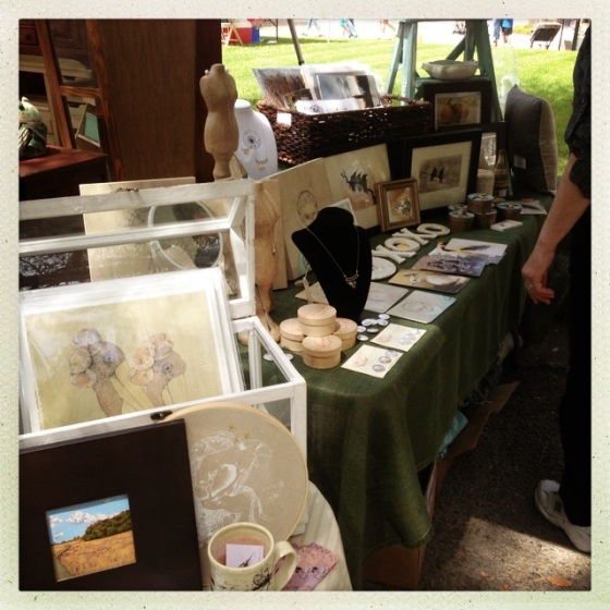 """our booth... aside from what I would consider the """"great insect onslaught of 2013"""" it was a seriously beautiful day."""