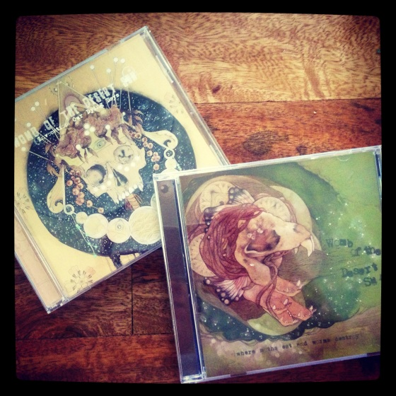 I received the Womb of the Desert Sun cd's I illustrated and designed.... so exciting!