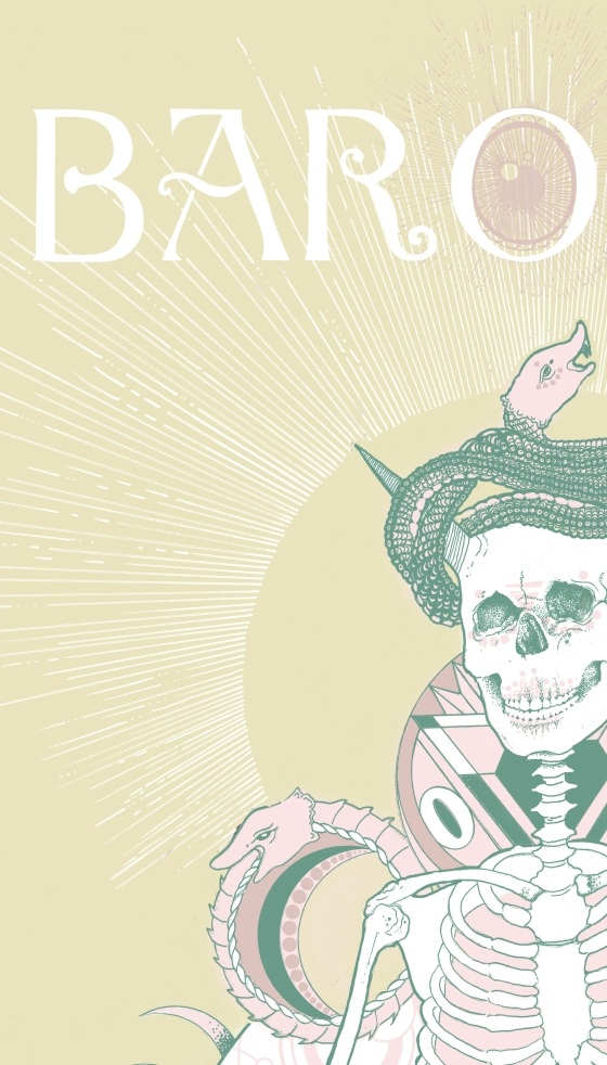 snippet of a poster I did for the Baroness poster series...