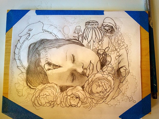 after all that madness, I started another drawing..