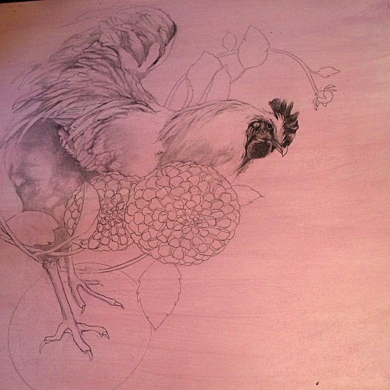 rooster in progress